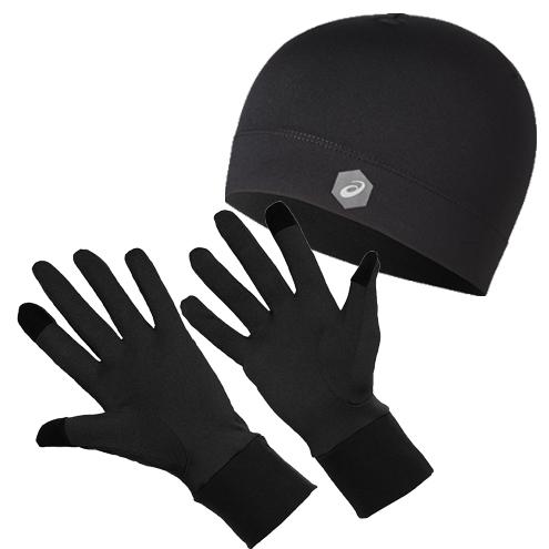 Asics-Running-Pack-Accessoires-Hardloopmuts-Hardloophandschoenen-Unisex-Zwart-3013A035-001